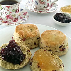 tea time scones and baked goods