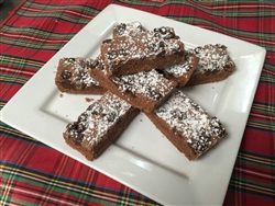 Scottish chocolate-mousse shortbread