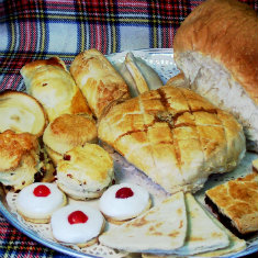 Scottish British breads scones and biscuits